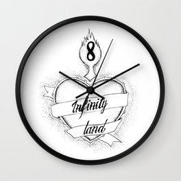 INfinity land - dots  Wall Clock