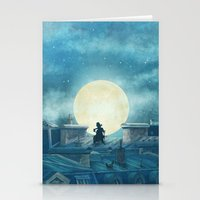 kindle Stationery Cards featuring Rooftoppers - square format  by Terry Fan