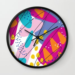 Summer abstraction 3 Wall Clock