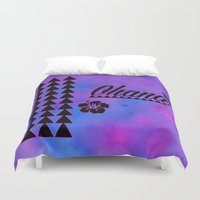 ohana Duvet Covers featuring Ohana by Lonica Photography & Poly Designs