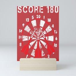 180 Points Darts Arrows Dartplayer Gift Mini Art Print