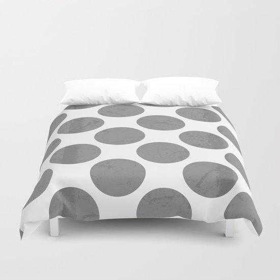 Gray Polka Dot Duvet Cover