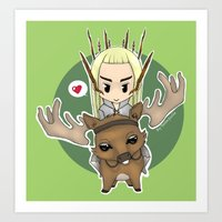 thranduil Art Prints featuring  Thranduil by YattaGiulia