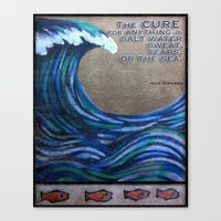 the cure Canvas Prints featuring The Cure by Jeanne Hollington