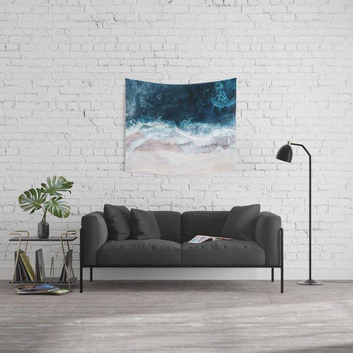 Blue Sea II Wall Tapestry