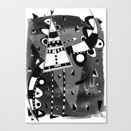 Sir Triangle Black Canvas Print