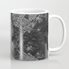 Central Park New York 1947 vintage old map for office decoration Coffee Mug