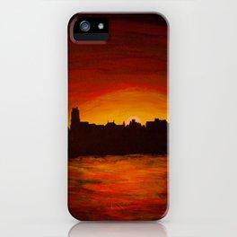 Dutch river shore sunset iPhone Case