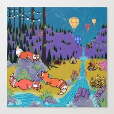 Foxy Forest Canvas Print