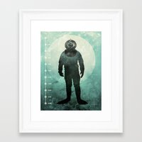 under the sea Framed Art Prints featuring Under The Sea by Chase Kunz