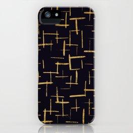 Gold Paint Brush #2 iPhone Case
