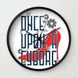 Once Upon a Cyborg Wall Clock