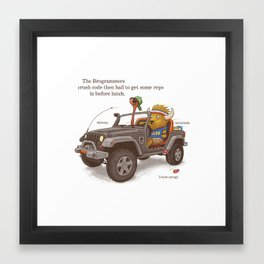 The Brogrammers Framed Art Print
