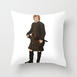 Jamie Fraser Throw Pillow