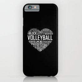 Love Volleyball Heart iPhone Case