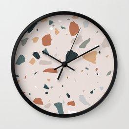 Terrazzo - Earth Tones Wall Clock