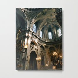 parisian cathedral light Metal Print
