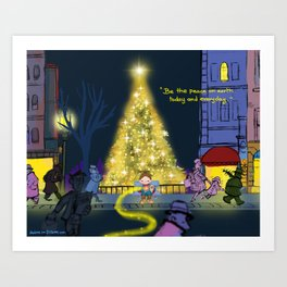 Be the peace on earth Art Print