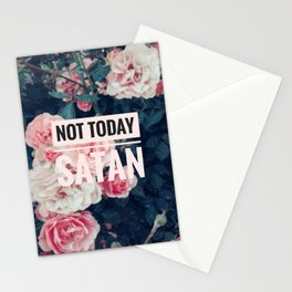 Not today satan! Stationery Cards