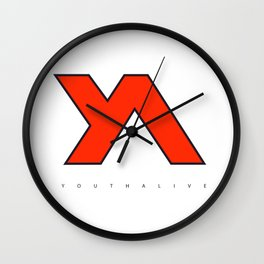 Youth Alive Red & Black on White Wall Clock