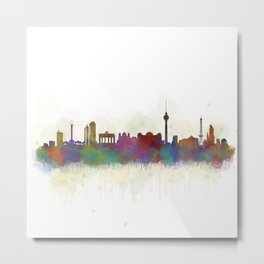 Berlin City Skyline HQ5 Metal Print