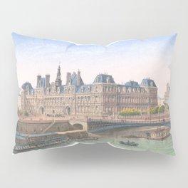 Paris art print Paris Decor office decoration vintage decor HOTEL DE VILLE of Paris Pillow Sham