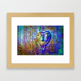Locked Heart Framed Art Print