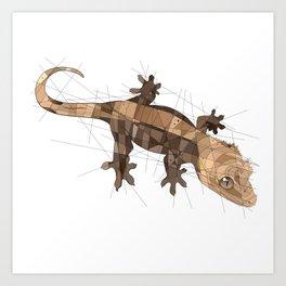 Crested Gecko Art Print
