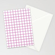 Grid (Magenta/White) Stationery Cards