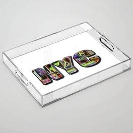 NYC (typography) Acrylic Tray