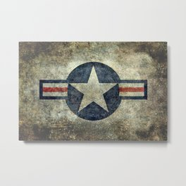 Stylized US Air force Roundel Metal Print