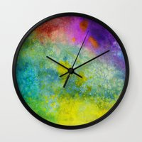 poop Wall Clocks featuring Unicorn Poop by Andrea Gingerich