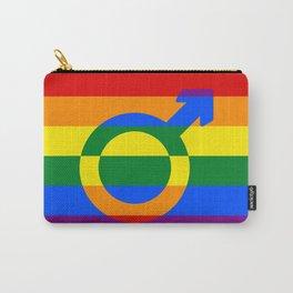 Gay Pride Rainbow Flag Boy Man Gender Male Carry-All Pouch