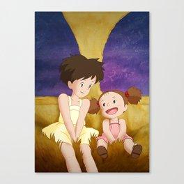 Mei & Satsuki Inside the Catbus Canvas Print