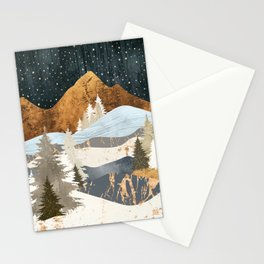 Winter Stars Stationery Cards