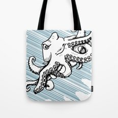 Octopus with Speed lines by RonkyTonk Underwater Tote Bag
