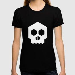 hex geometric halloween skull T-shirt