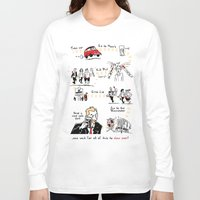 shaun of the dead Long Sleeve T-shirts featuring Shaun of the Dead by Rob O'Connor