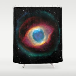 Helix (Eye of God) Nebula Shower Curtain