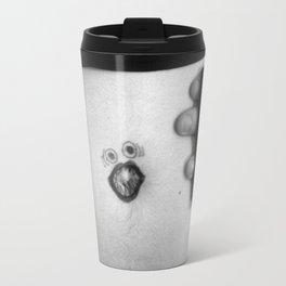 yelly-belly [black & white] Travel Mug
