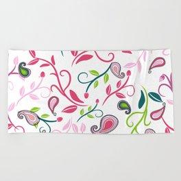 Paisley sroll pattern Beach Towel