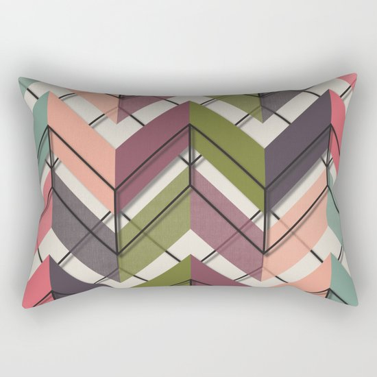 Fill & Stroke V Rectangular Pillow