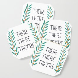 Their There They're - Grammar Lessons Coaster