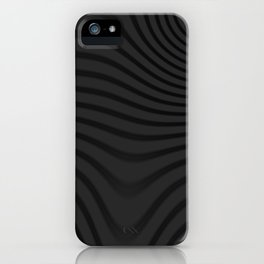 Organic Abstract 02 BLACK iPhone Case