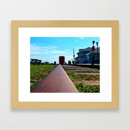 Down the Track and into the Station Framed Art Print