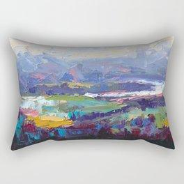 Overlook Abstract Landscape Rectangular Pillow