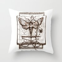 science Throw Pillows featuring Science by Ulla Thynell