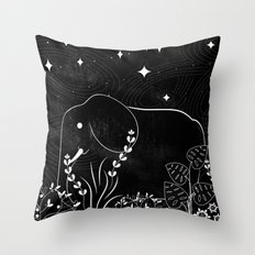 Elephant and Stars Throw Pillow