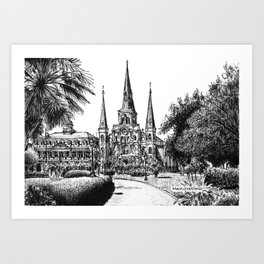 St. Louis Cathedral, New Orleans Art Print