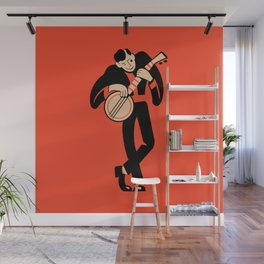The Banjoist Wall Mural